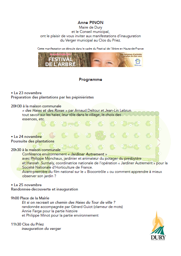 programme Dury