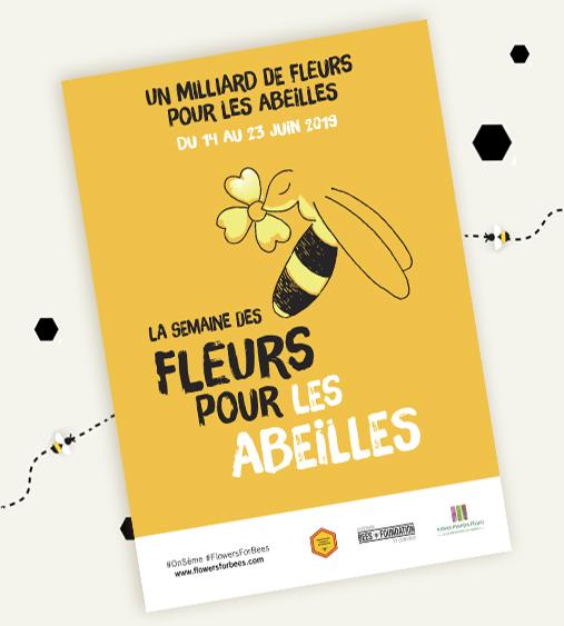 Affiche pour les abeilles VAL'HOR
