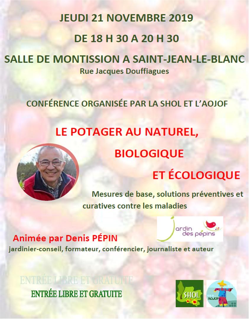 Conférence 21 novembre 2019 Saint jean le blanc