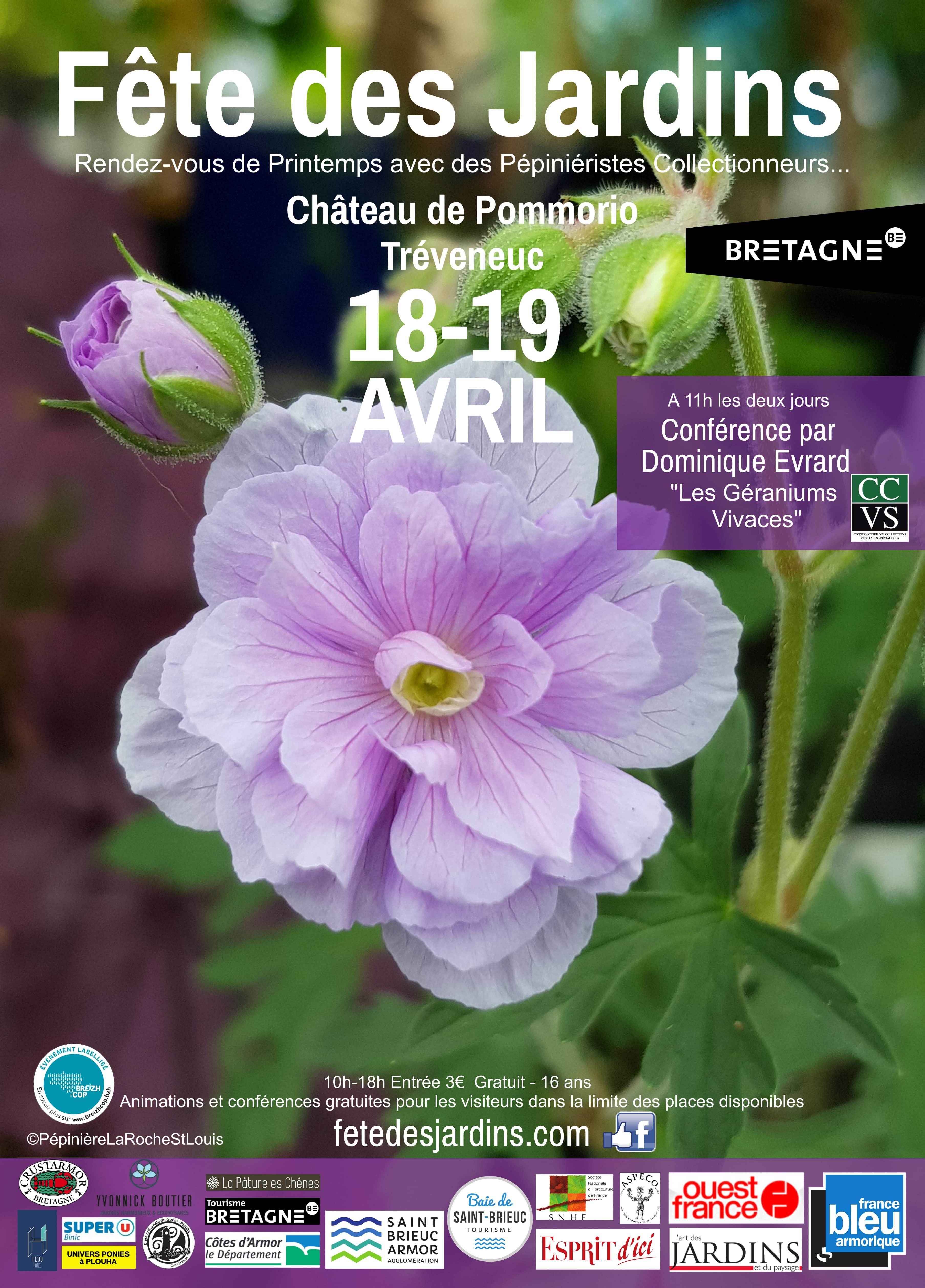affiche 18-19 avril fête des plantes pommorio