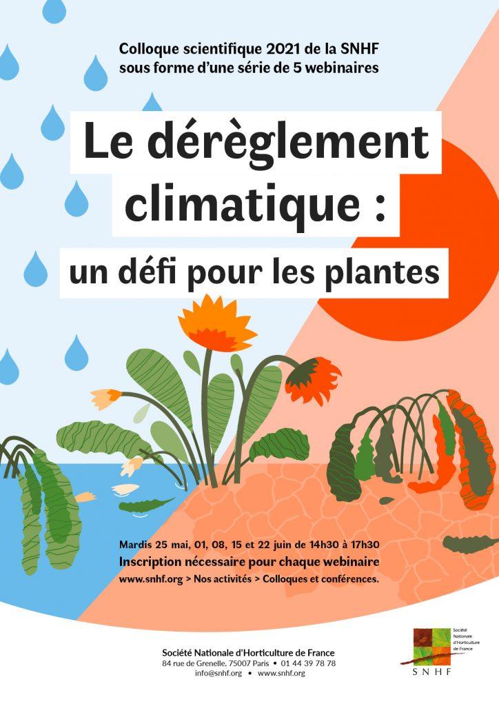 Colloque scientifique: dérèglement climatique, un défi pour les plantes,  une série de webinaires